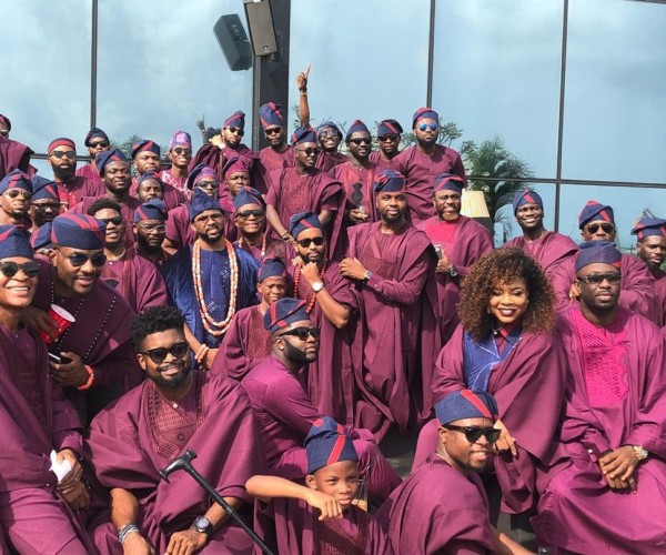 First Look At Banky W And Adesua Etomi's Traditional Wedding #Baad17