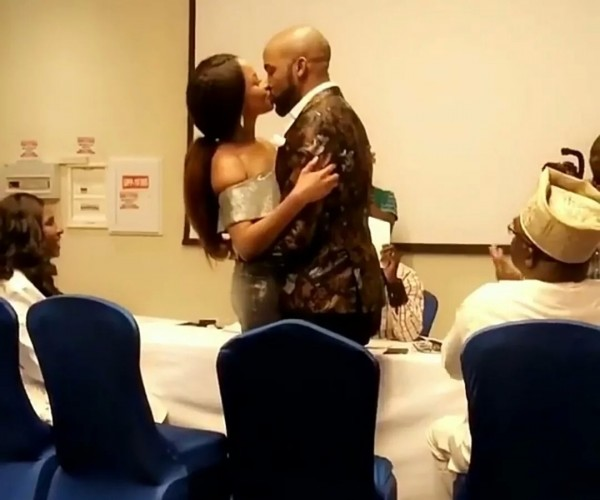 Banky W & Adesua Etomi Are Legally Married, As They Sign Marriage Papers Today