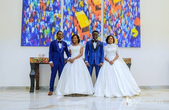 Twin Sisters Bade and Yode Aboderin Got Married On The Same Day (Photos)