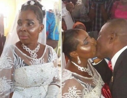 50-Year-Old Woman Weds For The First Time In Port Harcourt (Photos)