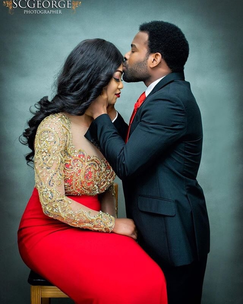 Gabriel afolayan and his girlfriend banke in pre-wedding photos