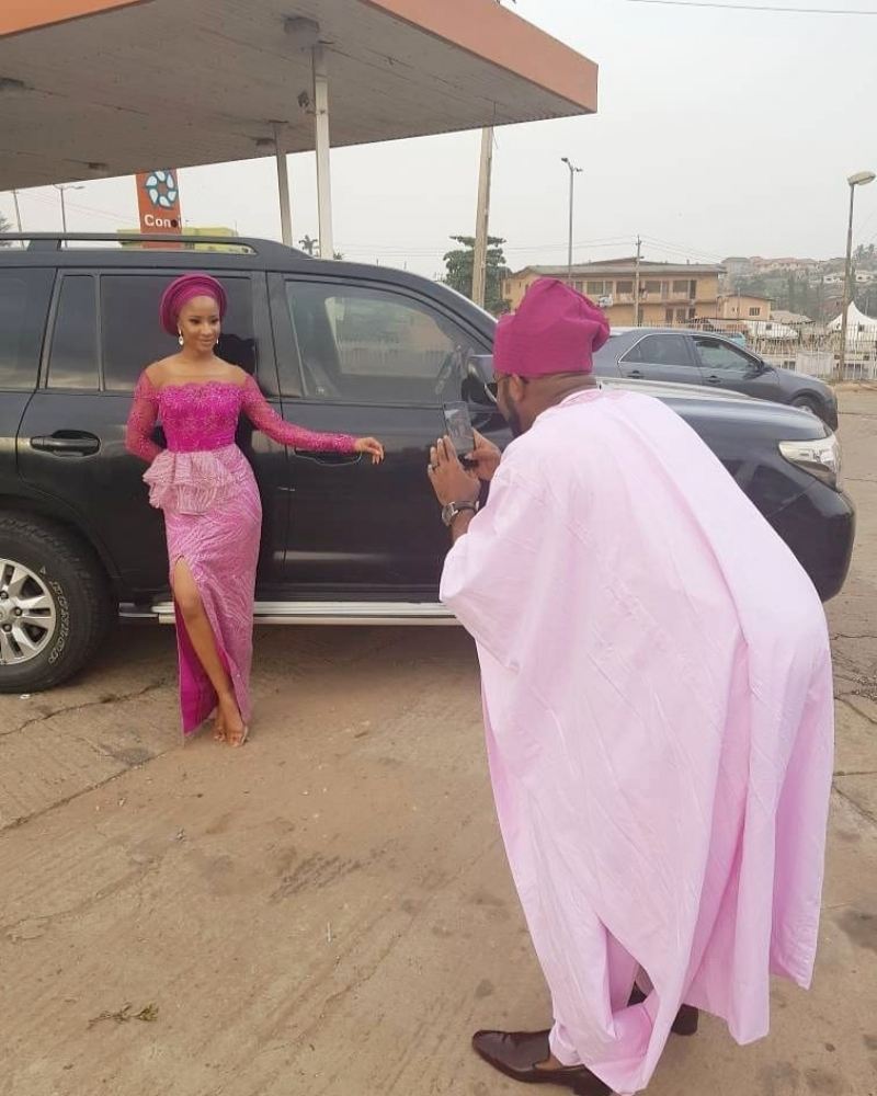 First photos from gabriel afolayan and banke traditional wedding-4