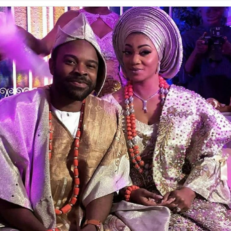 First photos from gabriel afolayan and banke traditional wedding