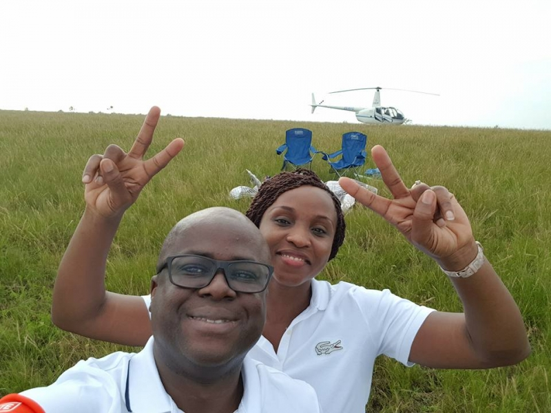 Delta state couple celebrate 10th wedding anniversary in a field