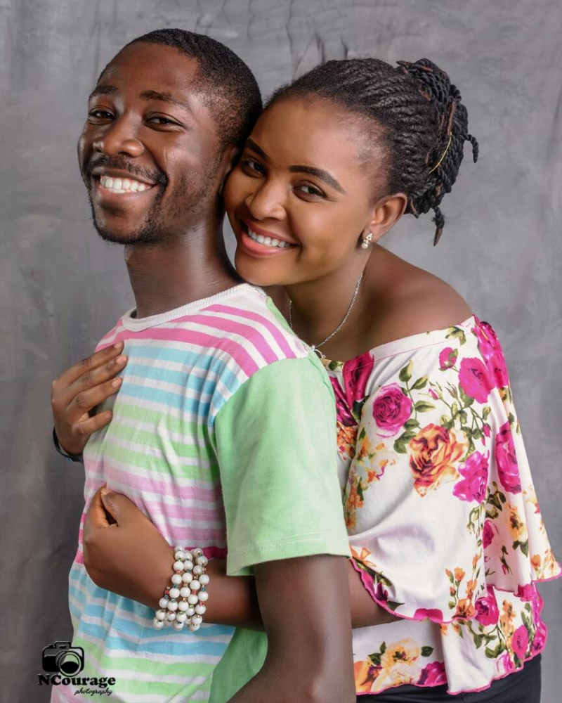Fowoshe and his finance in pre-wedding photos