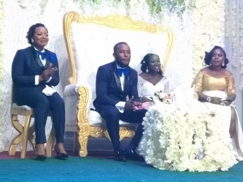 Lady serves as best man in church wedding