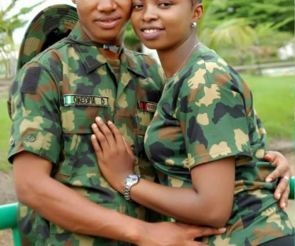 Pre-Wedding Photos Of Young Nigerian Soldier And His Lover