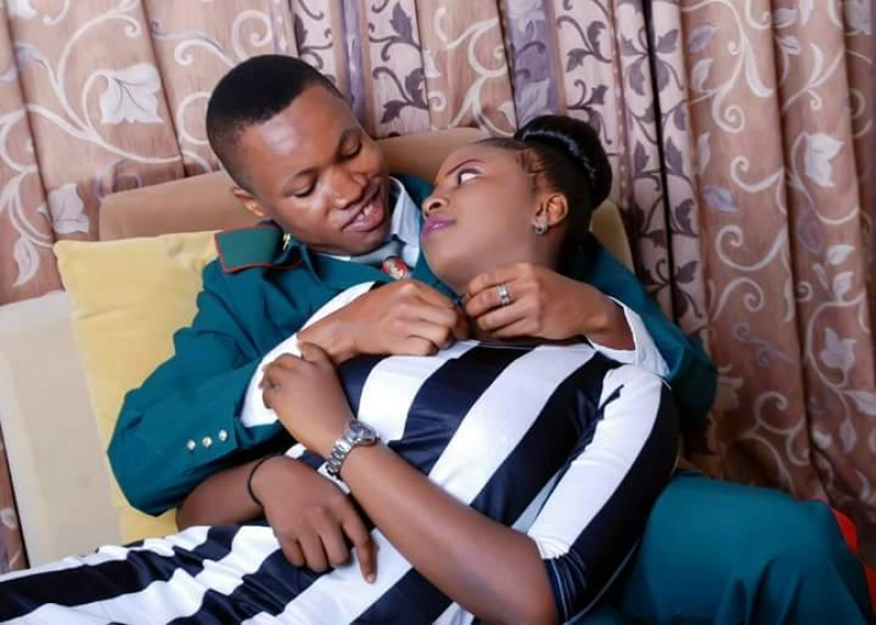 Pre-wedding photos of nigerian soldier and his wife to be