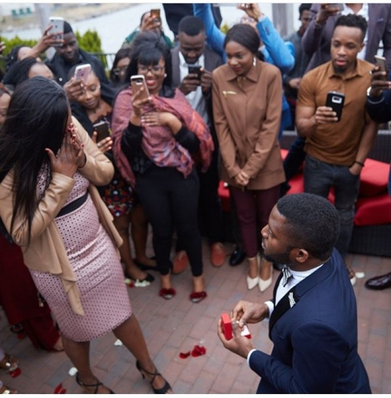 Man takes girlfriend to the location of their first date and proposes