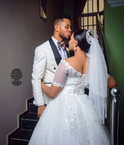 Photos From White Wedding Of Former Beauty Queen Ijeoma Okafor and Julius Ekweozor