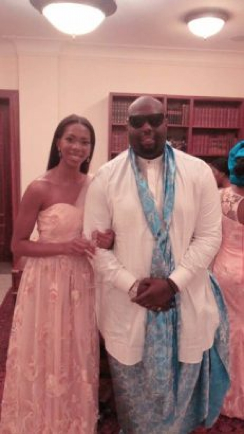 Xerona duke and dj caise in traditional wedding-2