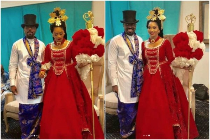 Xerona duke and dj caise in traditional wedding-4