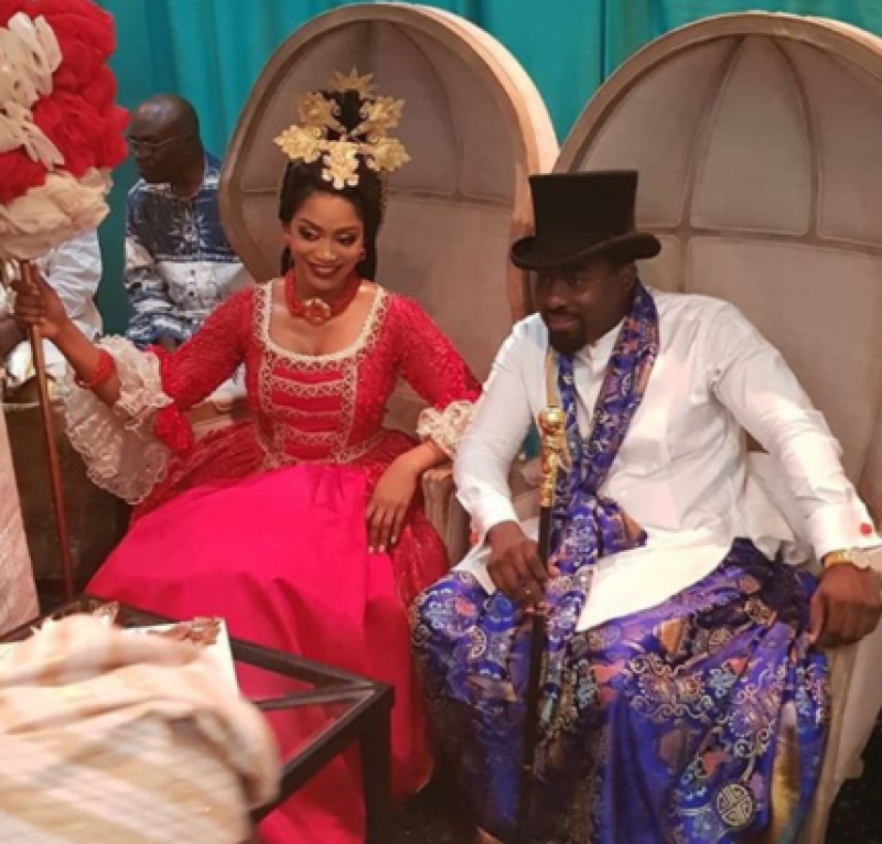 Xerona duke and dj caise in traditional wedding