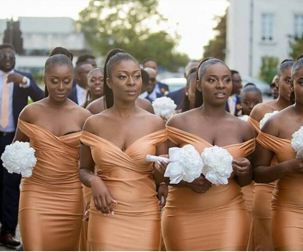 Lovely Picture of Melanin Bridesmaids