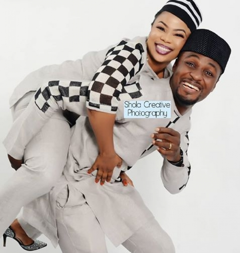 Pre-wedding photos of adeniyi johnson and seyi edun