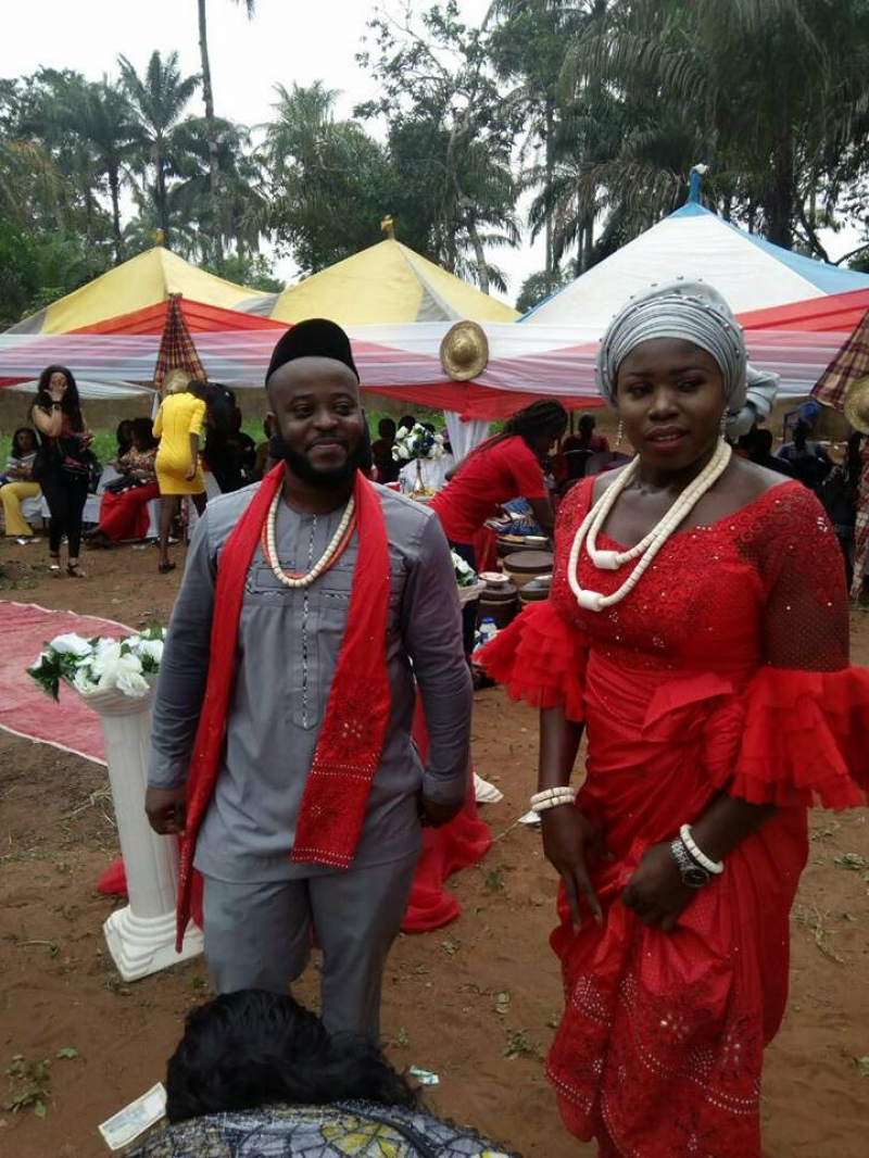 Traditional wedding pictures of nwafor chigozie paul aka don saint and his wife-4