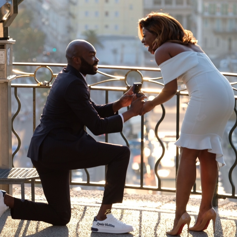 Lekan romantic proposal to funmi in france-4