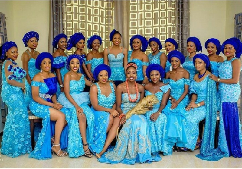 Random pictures of bride and her bridesmaids
