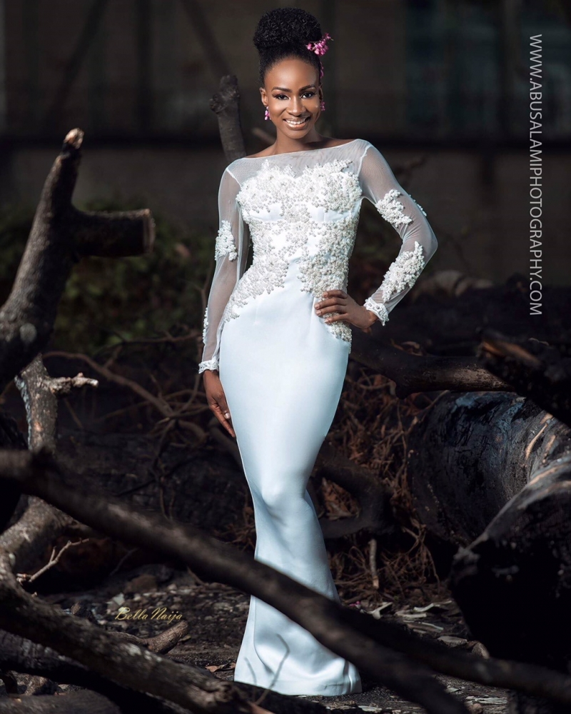 Anto big brother naija 3 housemate in bridal themed photoshoot-10