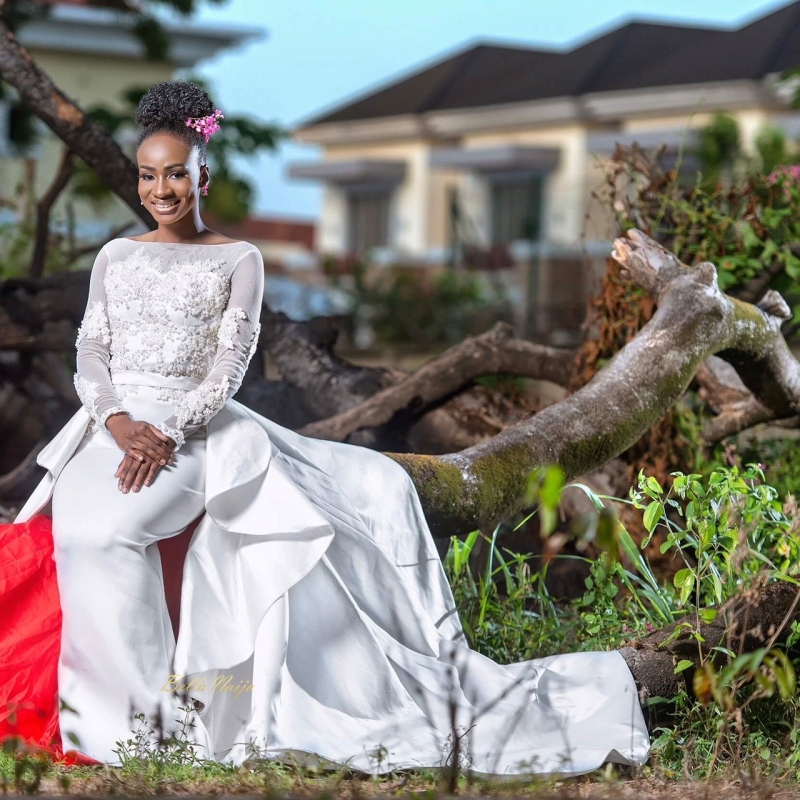 Anto big brother naija 3 housemate in bridal themed photoshoot-3