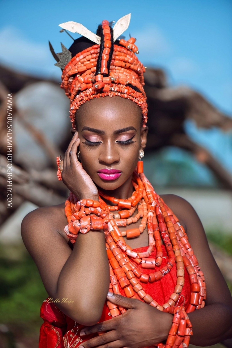 Anto big brother naija 3 housemate in bridal themed photoshoot-8