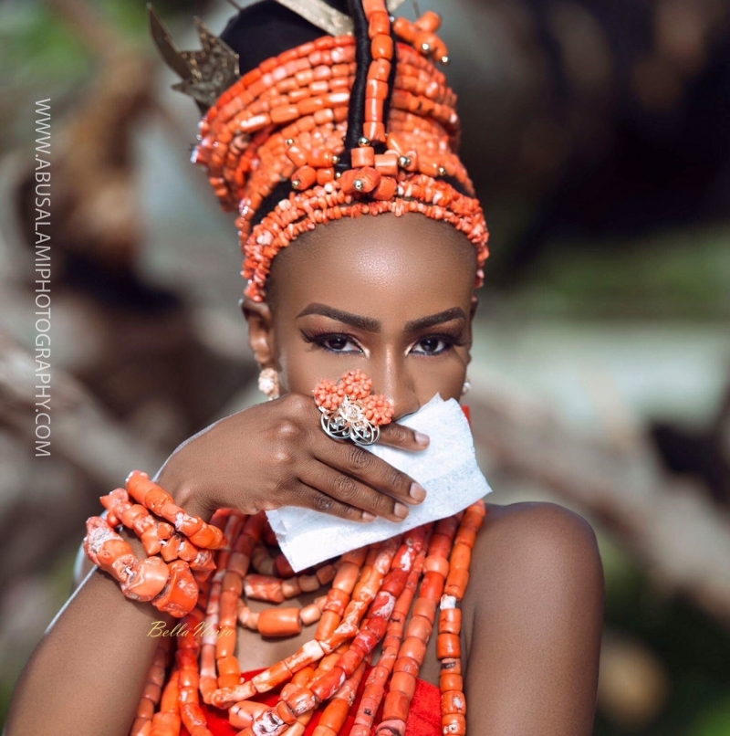 Anto big brother naija 3 housemate in bridal themed photoshoot-9