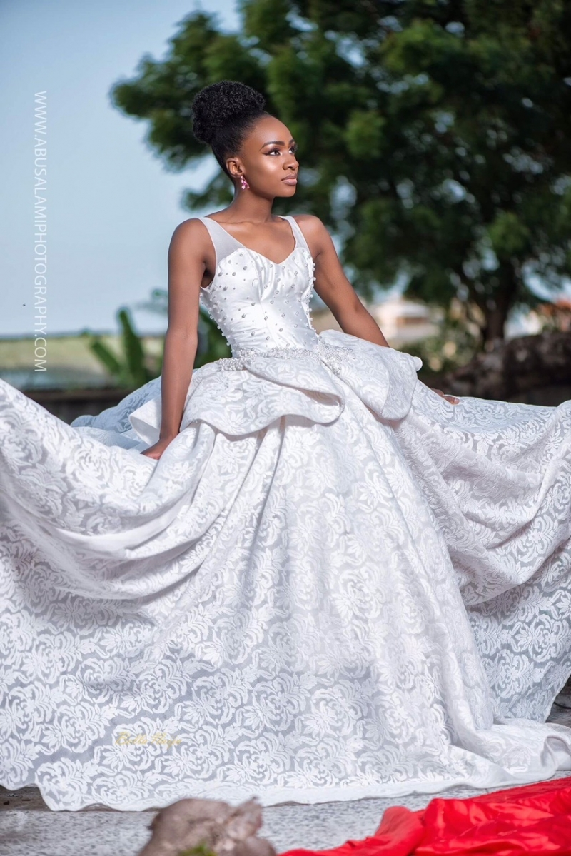 Anto big brother naija 3 housemate in bridal themed photoshoot