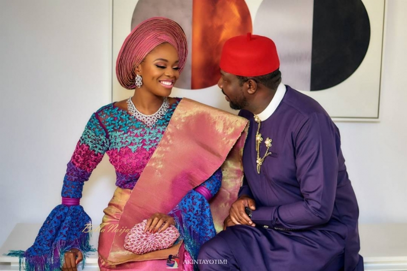 Dikko nwachukwu and zainab balogun in traditional marriage
