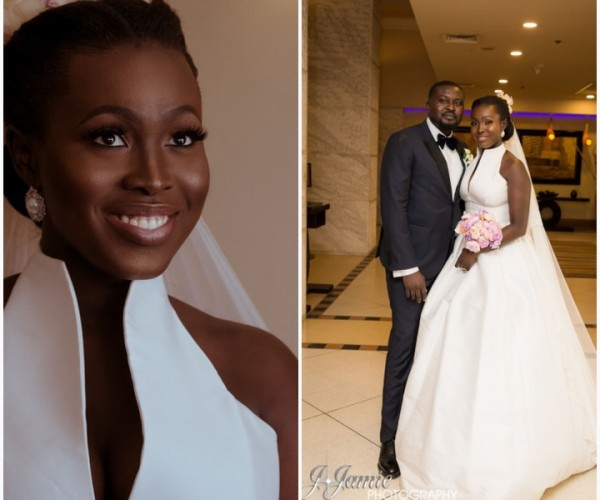 Outdoor White Wedding Between Nifemi Marcus-Bello and Feyikemi Adesanya