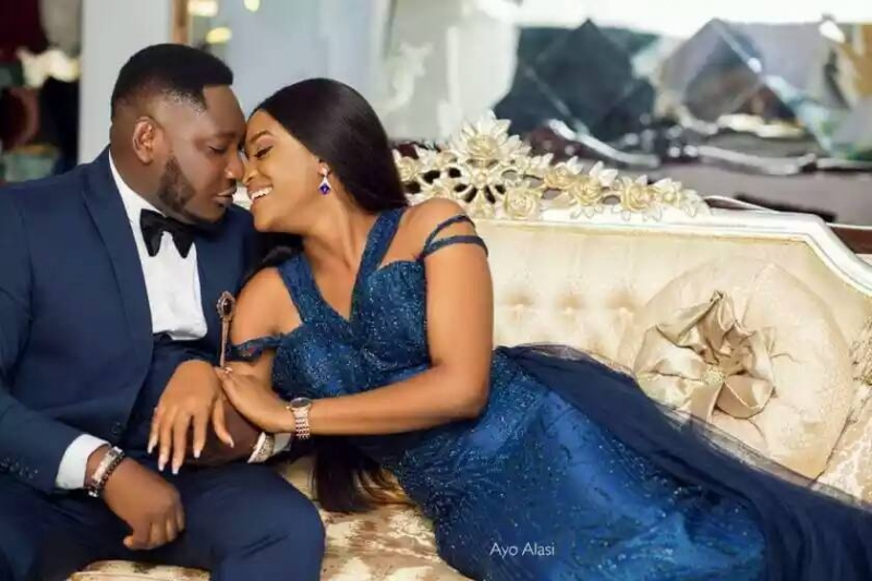 Popular nigerian viral animation comedian ajebo in pre-wedding photos with uchechi