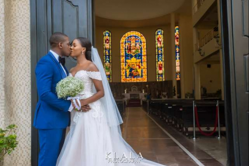White wedding pictures of anita and ajibola