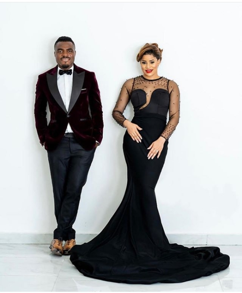Emmanuel emenike and iheoma nnadi in pre-wedding photos