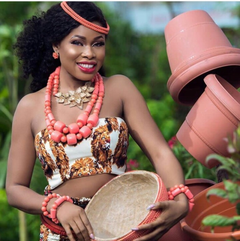 Former bbnaija housemate princess in bridal photoshoot-3