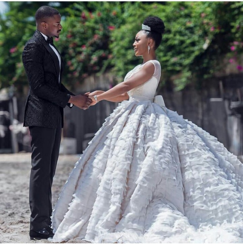 Former bbnaija housemates leo dasilva and ifu ennada in wedding photoshoot-5