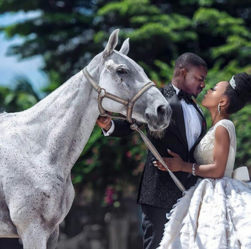 Former bbnaija housemates leo dasilva and ifu ennada in wedding photoshoot-6