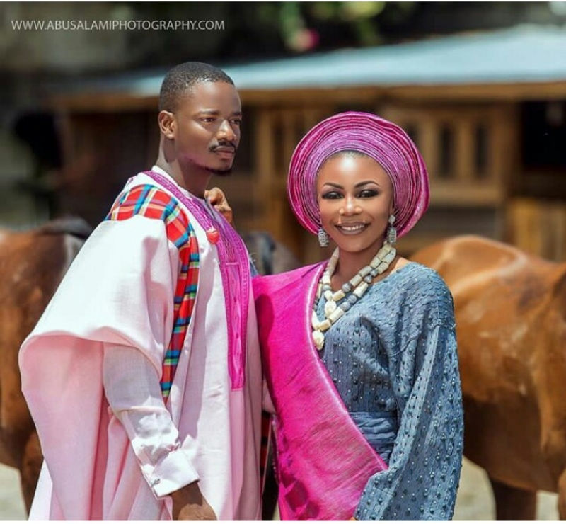 Former bbnaija housemates leo dasilva and ifu ennada in wedding photoshoot-7