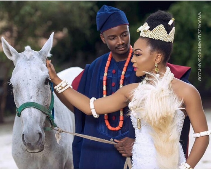 Former bbnaija housemates leo dasilva and ifu ennada in wedding photoshoot-8