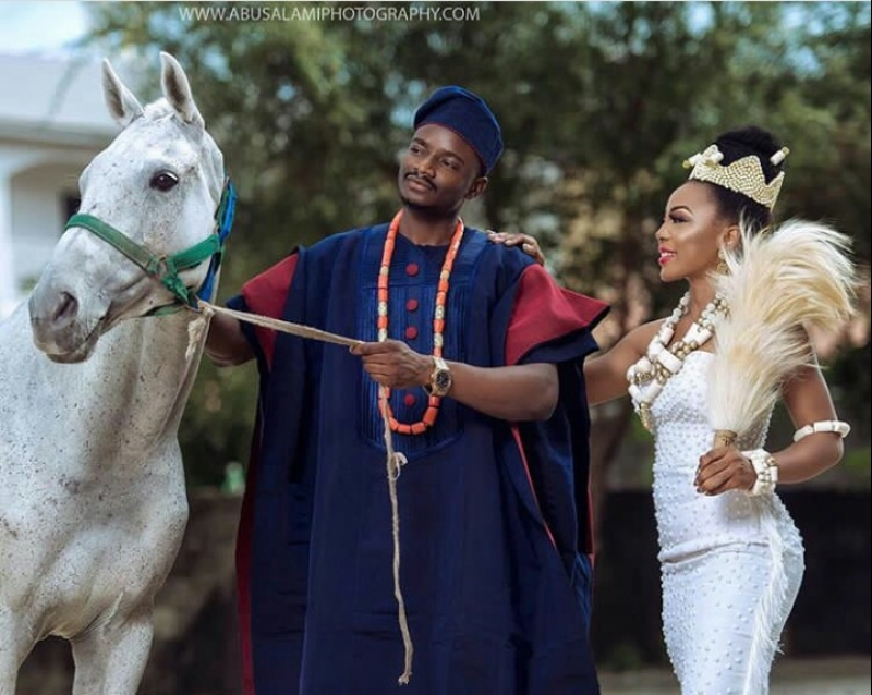 Former bbnaija housemates leo dasilva and ifu ennada in wedding photoshoot-9