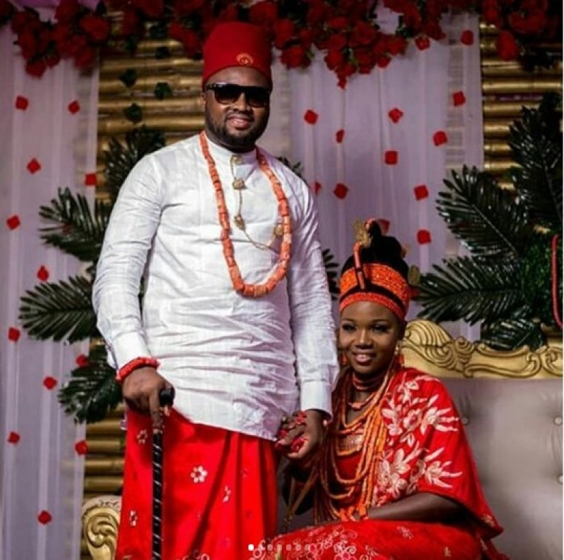 Traditional wedding between nollywood actor chuks omalicha and philomena-2