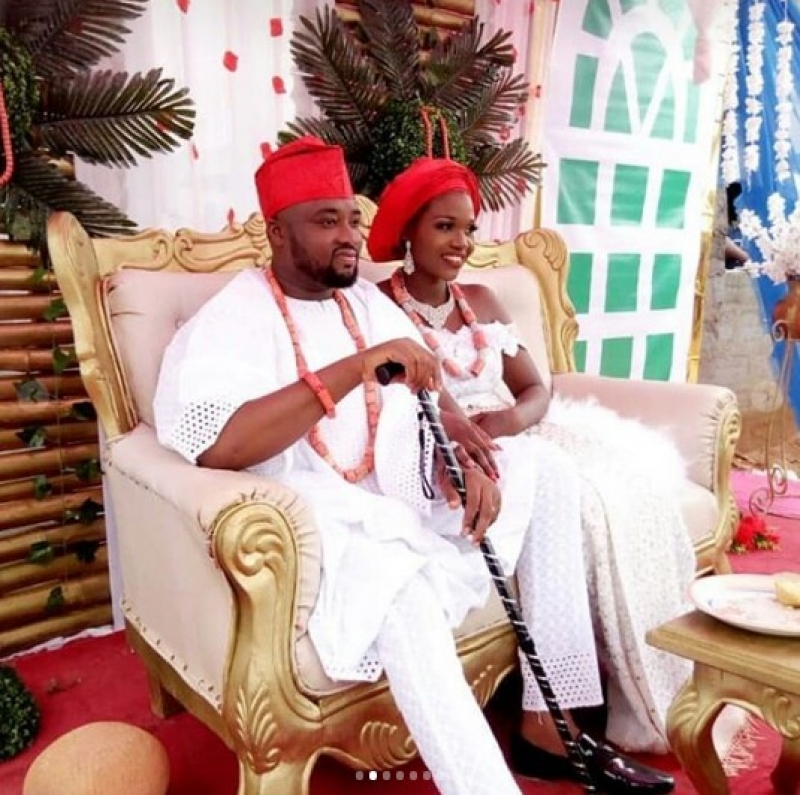 Traditional wedding between nollywood actor chuks omalicha and philomena-4