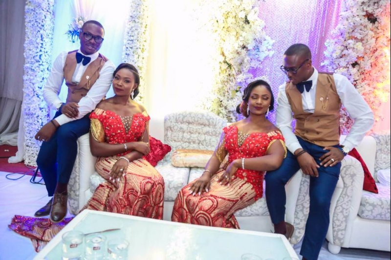 Wedding pictures of identical twins with their lovely wives-4
