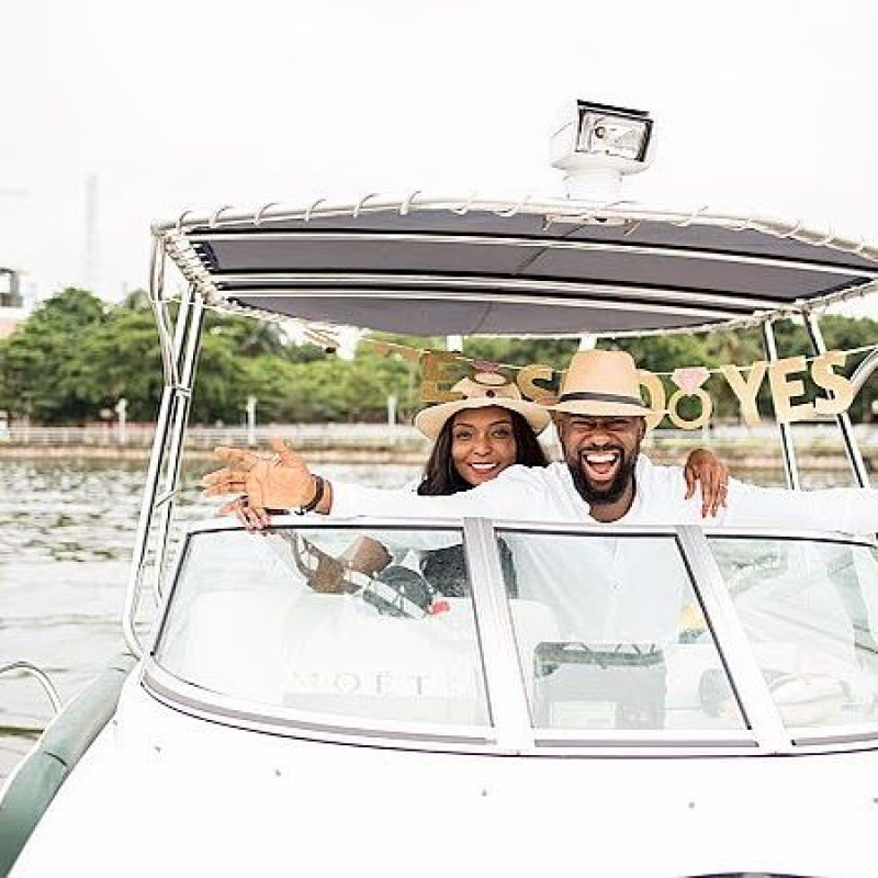 Igbo man proposes to his yoruba girlfriend on a boat cruise-4
