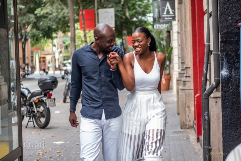 Tomi and lekan pre-wedding photoshoot in barcelona spain