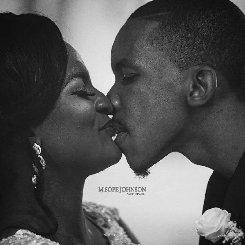 White wedding photos of dj consequences and yemisi williams