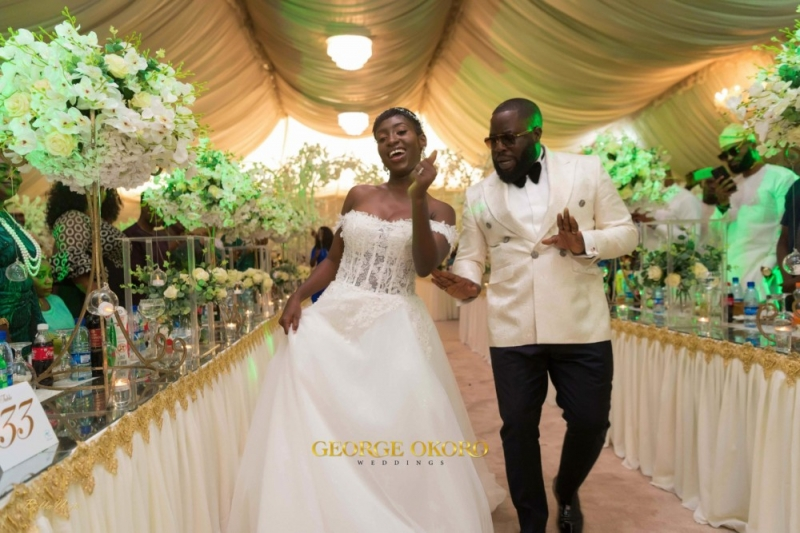 Photos from the white wedding ceremony of peluola and etomi-7