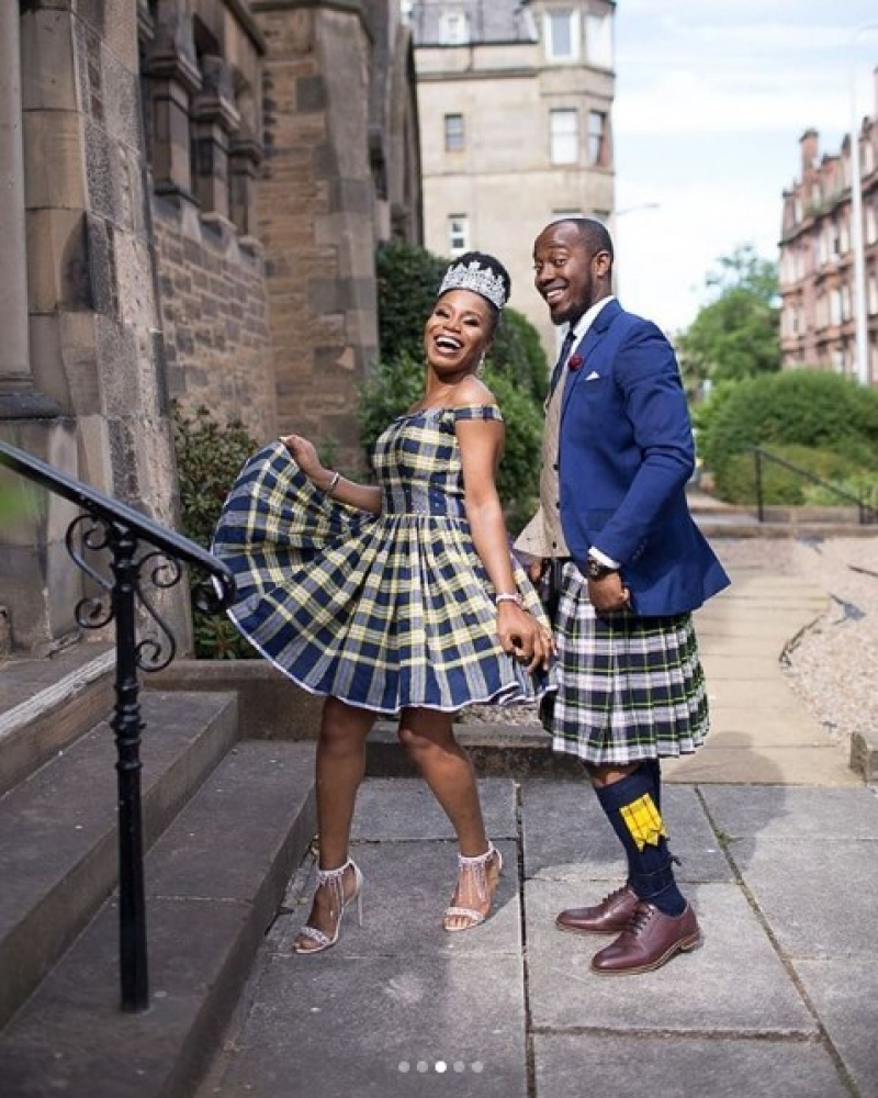 Scottish inspired wedding of a nigerian couple