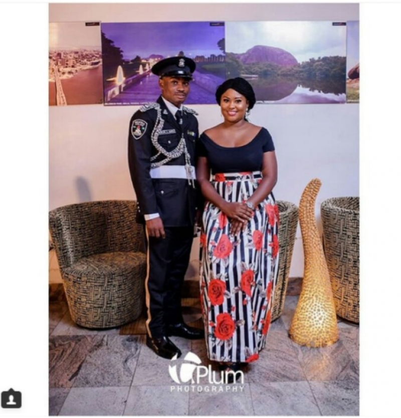 Nigerian police officer in pre-wedding photos with fiancee-3