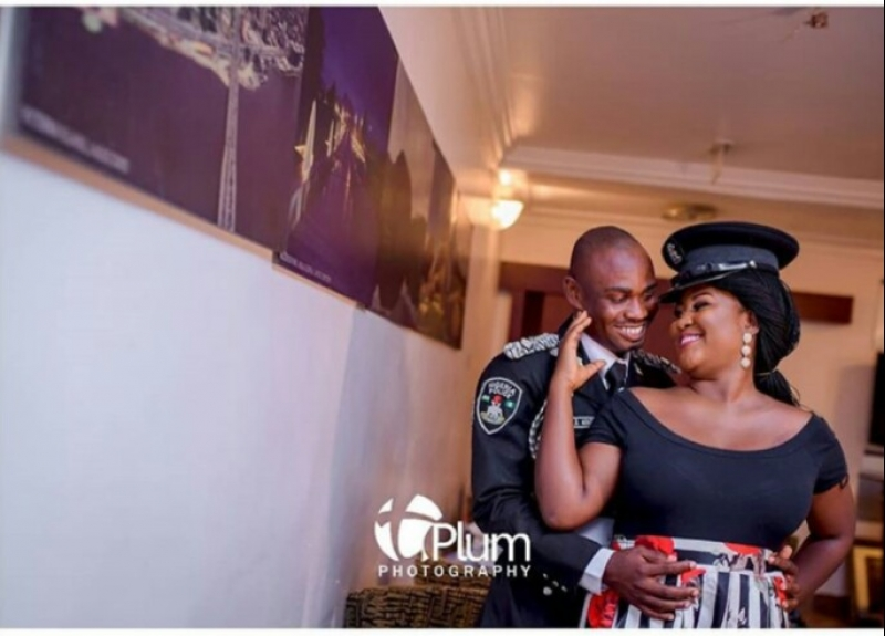 Nigerian police officer in pre-wedding photos with fiancee-4