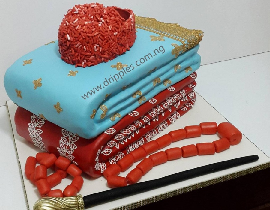 Nigerian Traditional Wedding Cakes By Dripples