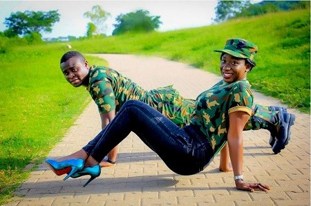 A Nigerian Solr And His Fianceé Releases Military Themed Pre Wedding Photos